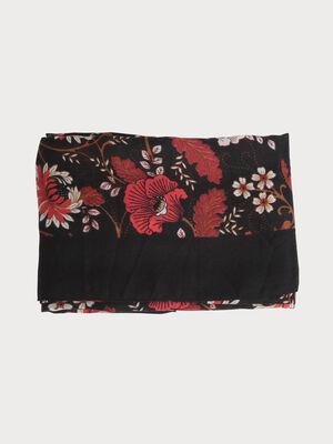 Foulard imprime rose fushia femme