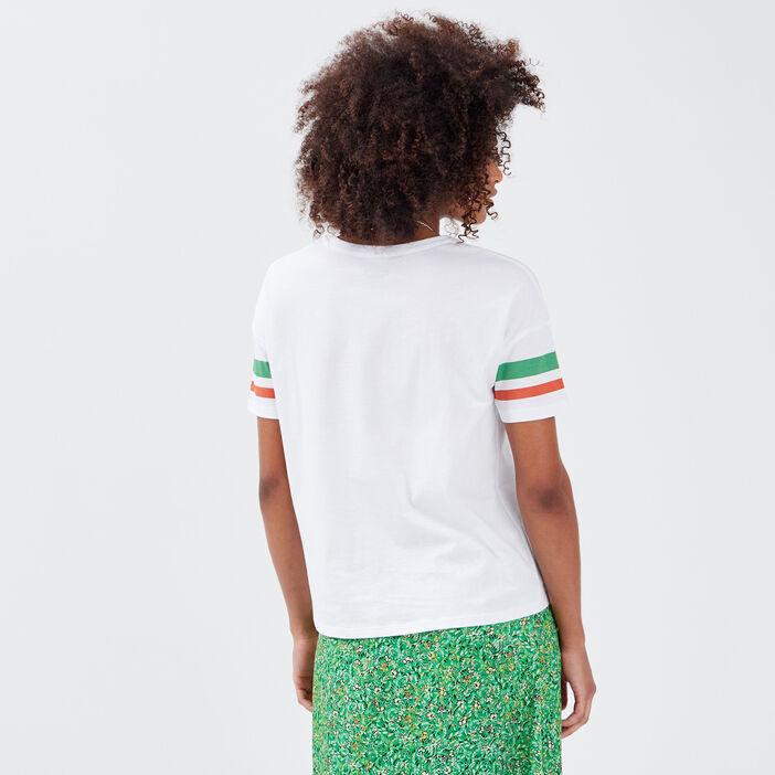 T-shirt Stranger Things ecru femme