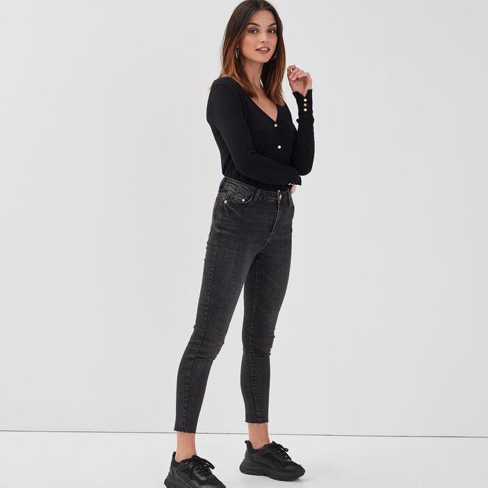 Jeans skinny denim noir femme