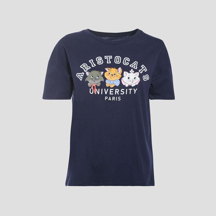 T-shirt Les Aristochats bleu marine femme