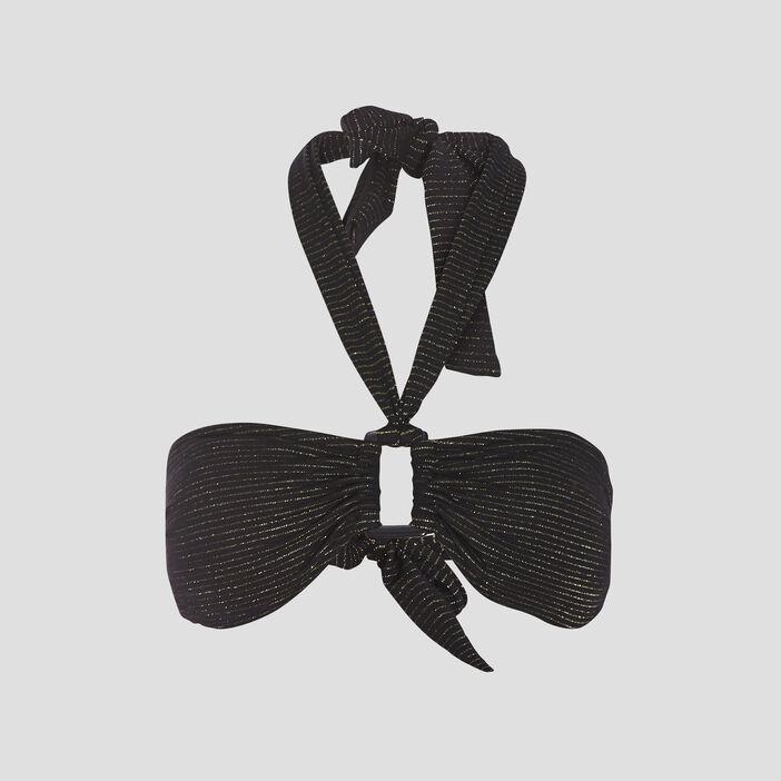 Haut de maillot de bain noir femme