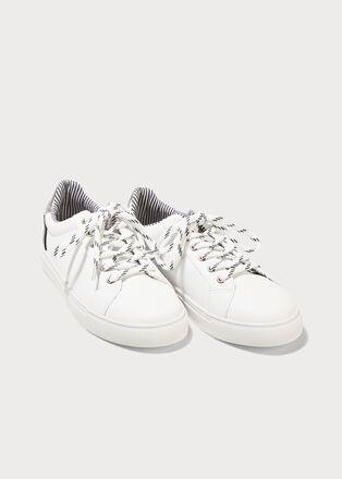 Baskets plates blanc femme