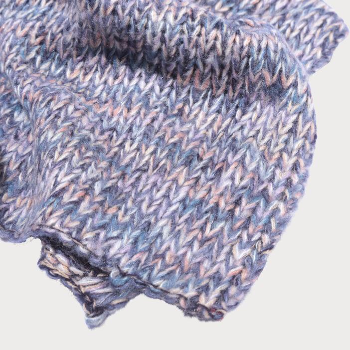 lot bonnet et charpe tricot s bleu clair femme vib 39 s