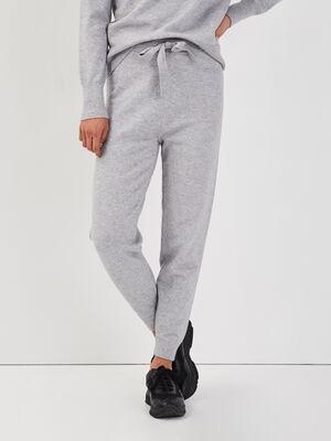 Pantalon jogging gris clair femme