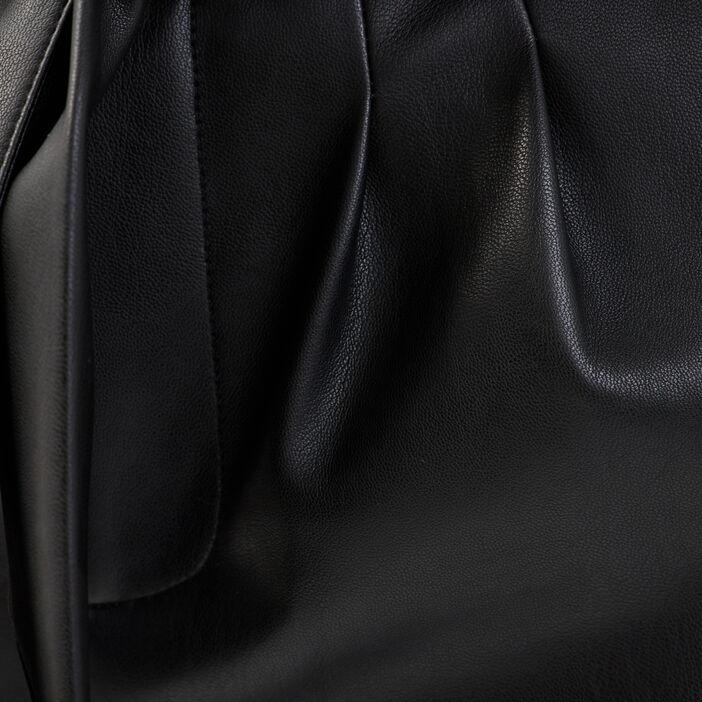 Pantalon paperbag noir femme