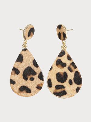 Boucles doreilles leopard couleur or femme