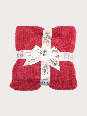 Lot echarpe et bonnet rouge femme
