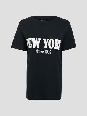 T shirt large a message noir femme