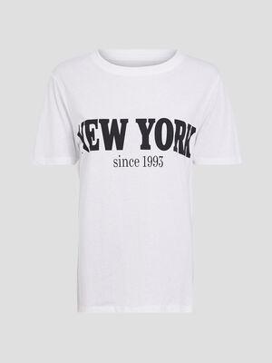 T shirt large a message ecru femme