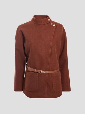 Manteaux ceinturee marron femme