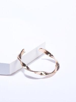 Bracelet jonc torsade couleur or femme