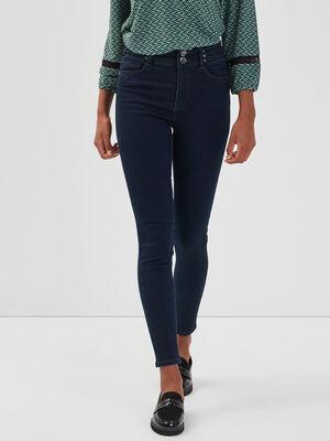 Jeans skinny details rivets denim blue black femme