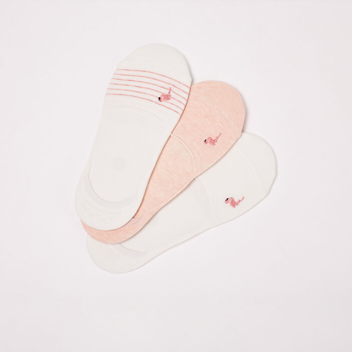 Lot 3 paires chaussettes rose poudrée femme