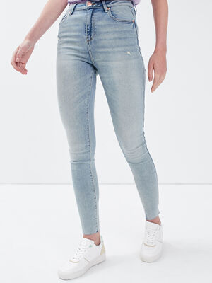 Jeans skinny 78eme destroy denim bleach femme