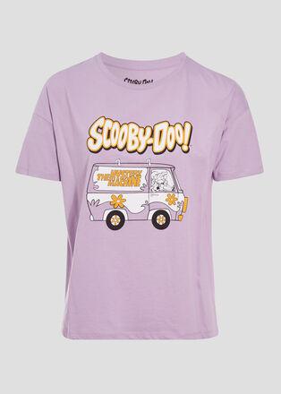 T shirt Scooby Doo mauve femme