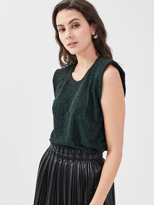 Debardeur bretelles larges vert fonce femme