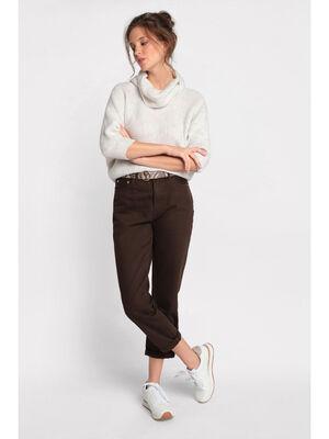 Pantalon marron fonce femme