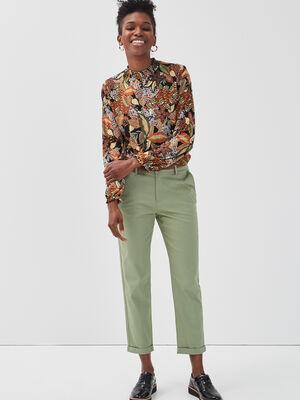Pantalon chino 78eme vert femme