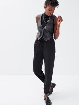 Pantalon jogging noir femme