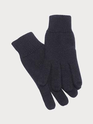 Gants tricotes gris fonce femme