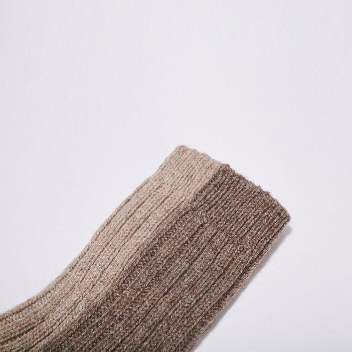 Chaussettes tricotées beige femme