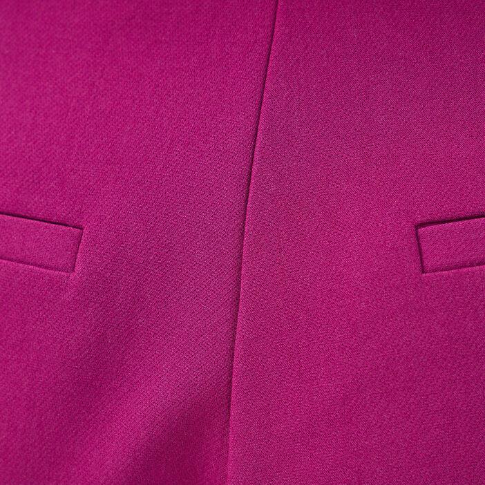 Bermuda city avec pinces violet foncé femme