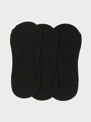 Lot 3 paires proteges bas noir femme