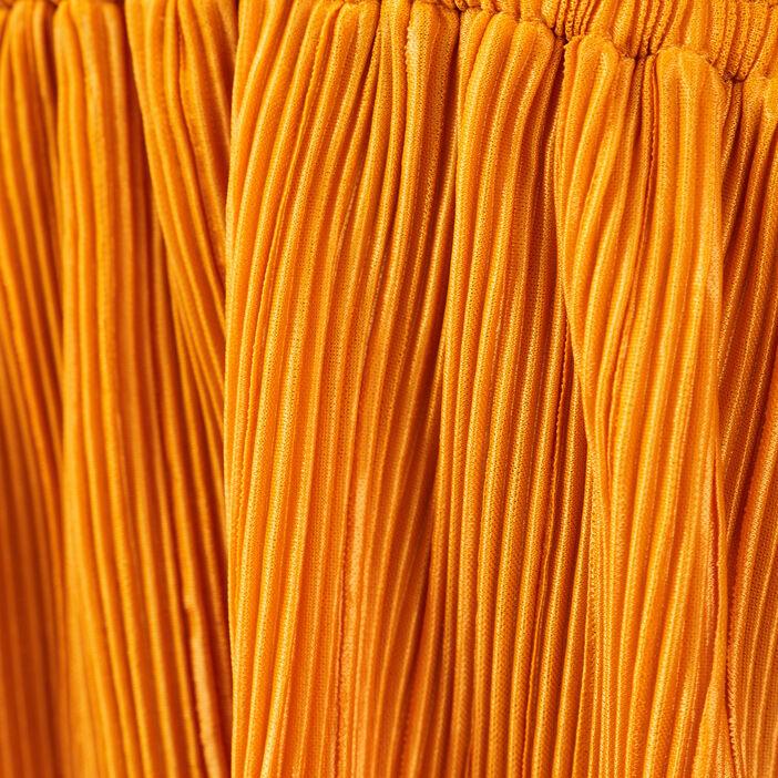 Débardeur bretelles fines jaune foncé femme