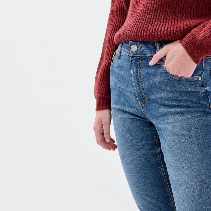 Jeans regular taille haute denim dirty femme