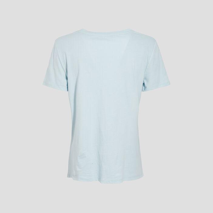 T-shirt manches courtes bleu lavande femme