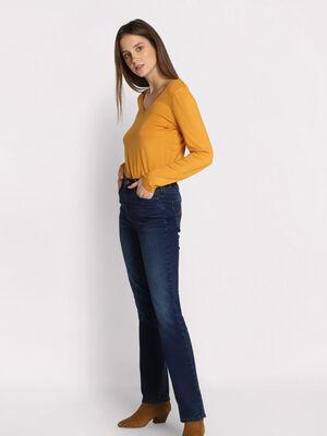 Jeans regular denim brut femme