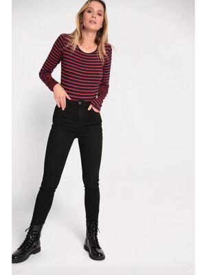 Jeans skinny effet denim denim noir femme