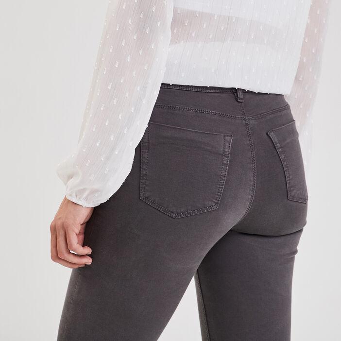 Jeans slim 5 poches gris foncé femme