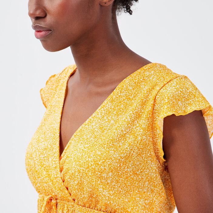 T-shirt manches courtes orange femme