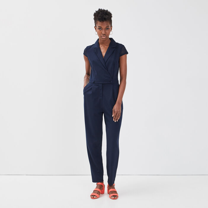 combinaison pantalon dentelle bleu marine femme vib 39 s