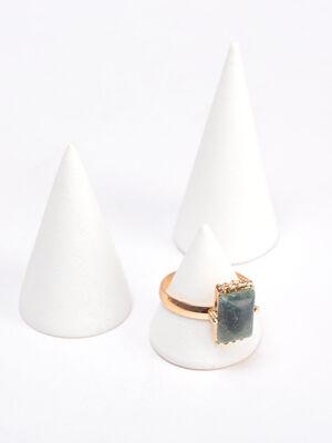 Bague pierre rectangulaire couleur or femme