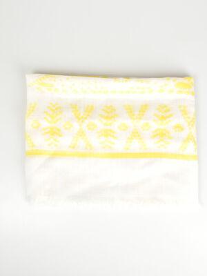 Foulard fines franges jaune femme
