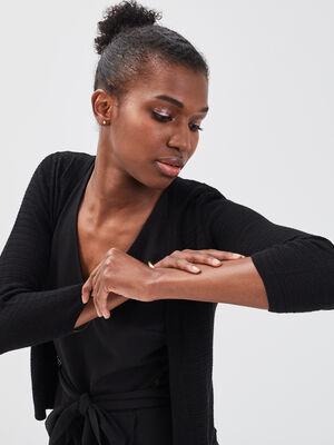 Gilet court manches 34 noir femme