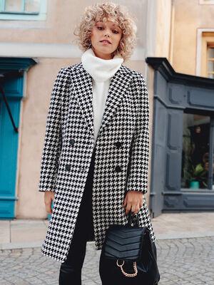 Manteau droit blanc femme