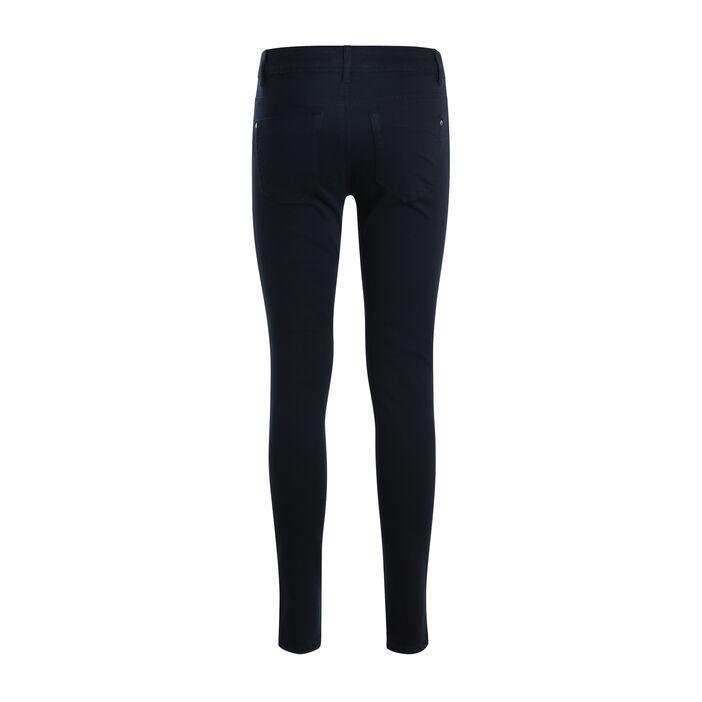 Jeans slim 5 poches bleu marine femme