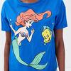 T shirt La Petite Sirene bleu electrique femme
