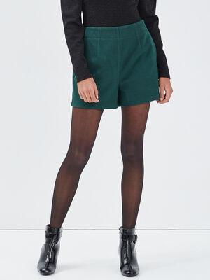Short droit vert fonce femme