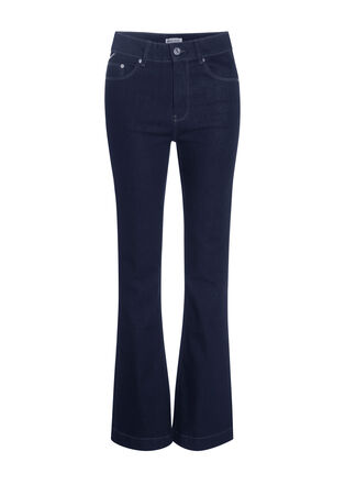 Jeans bootcut denim brut femme