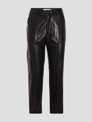 Pantalon cargo noir femme