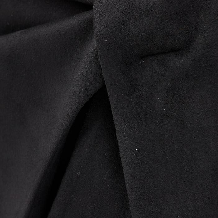 Jupe droite effet portefeuille noir femme