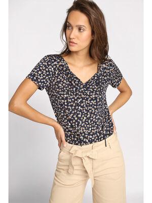 T shirt manches courtes cordon bleu marine femme