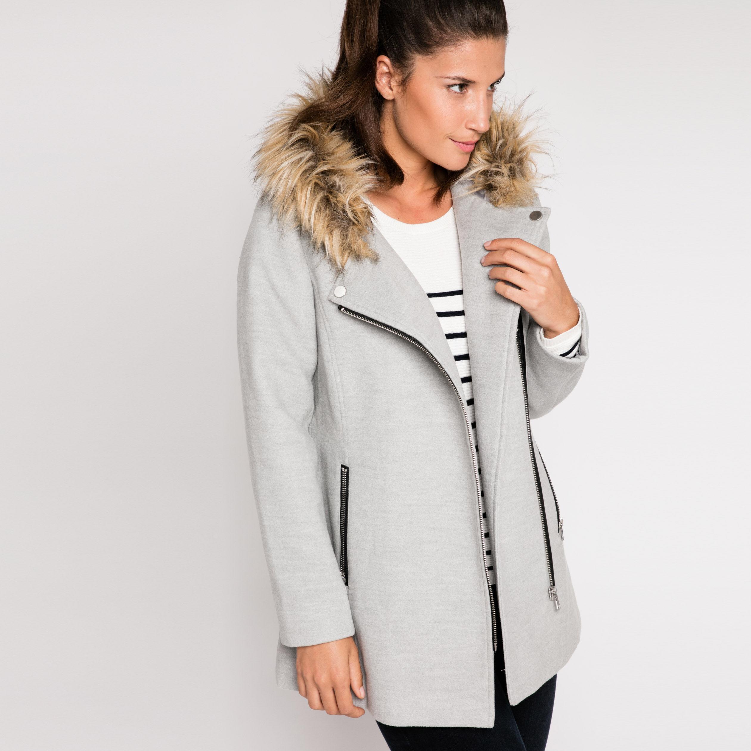 Manteau oversize laine gris