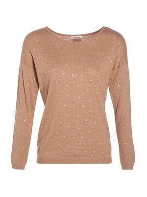 Pull manches longues a boutons creme femme
