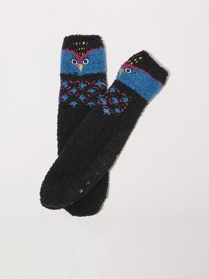 Chaussettes antiderapantes noir femme