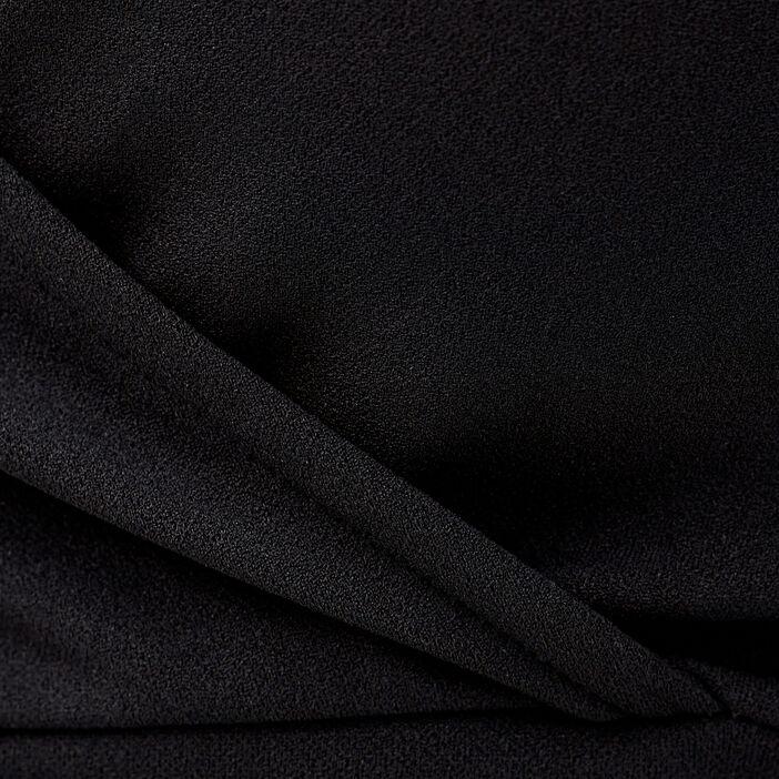 Crop top manches longues noir femme